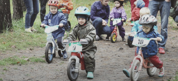 велосипедные соревнования для детей